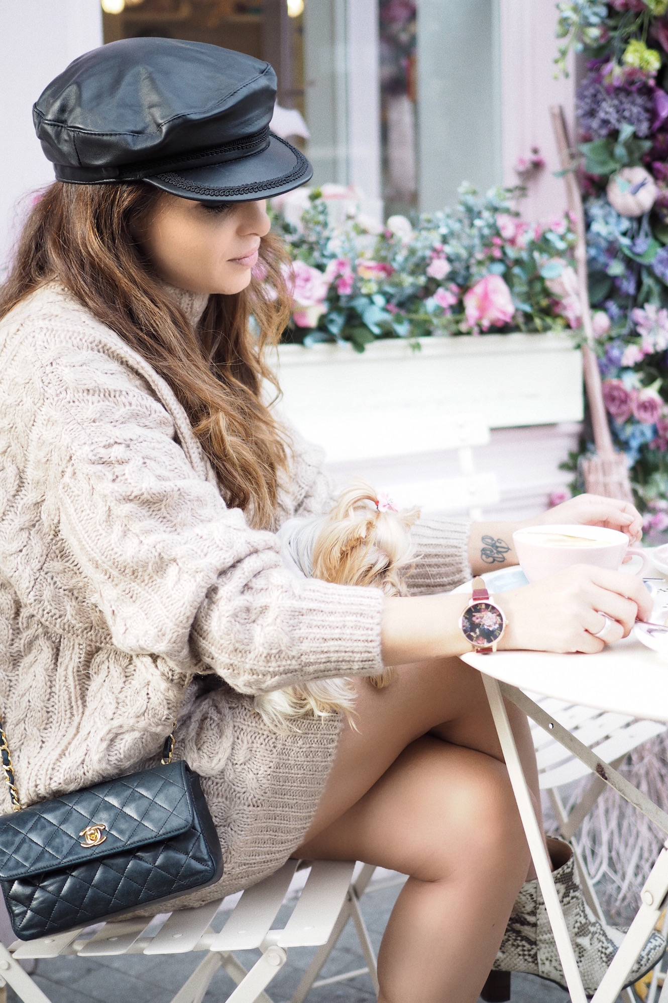 london-street-style-peggy-porschen-coffee-olivia-burton-watches