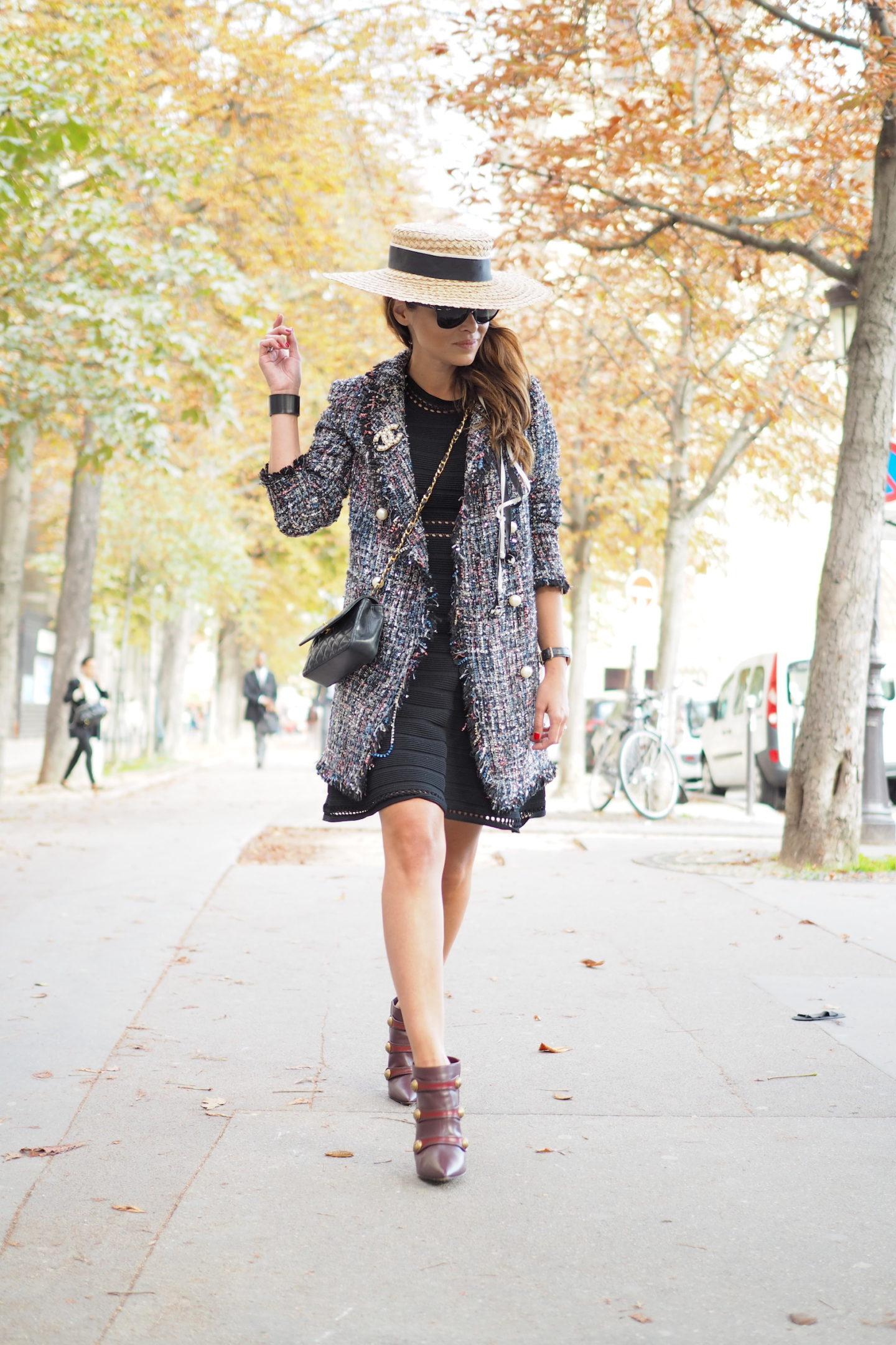 Black dress PFW