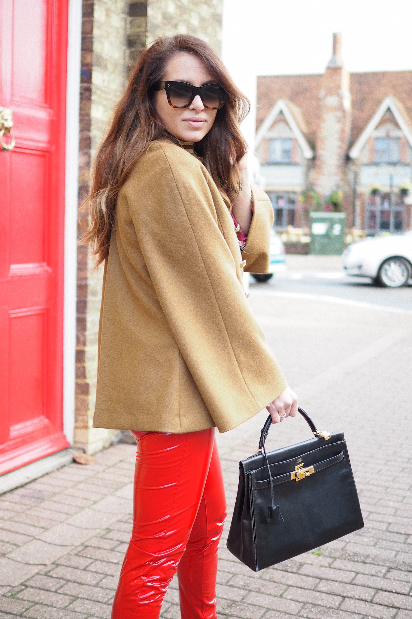 fashion bloggers street style london uk hermes vintage bag