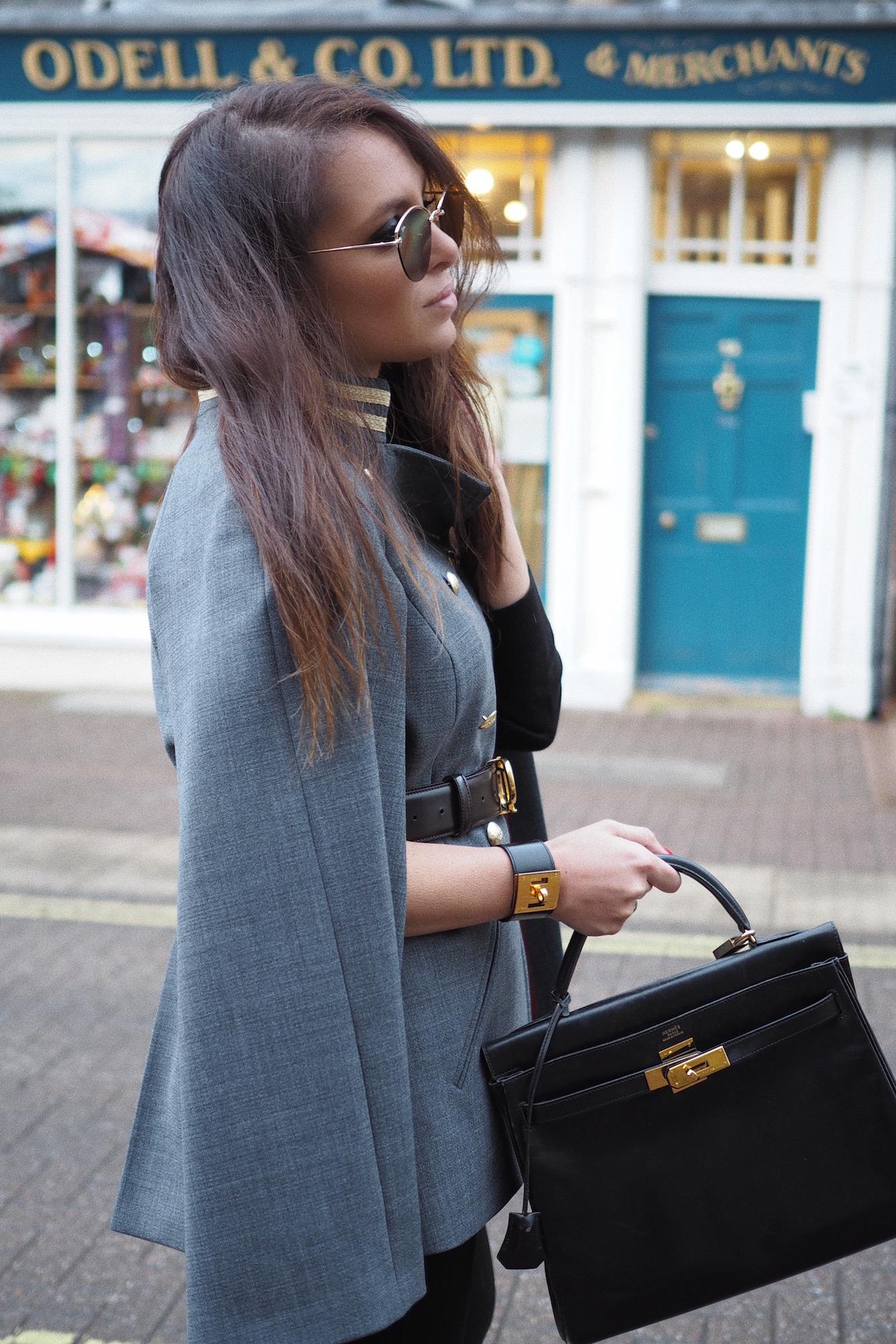 kelly hermes handbag street style