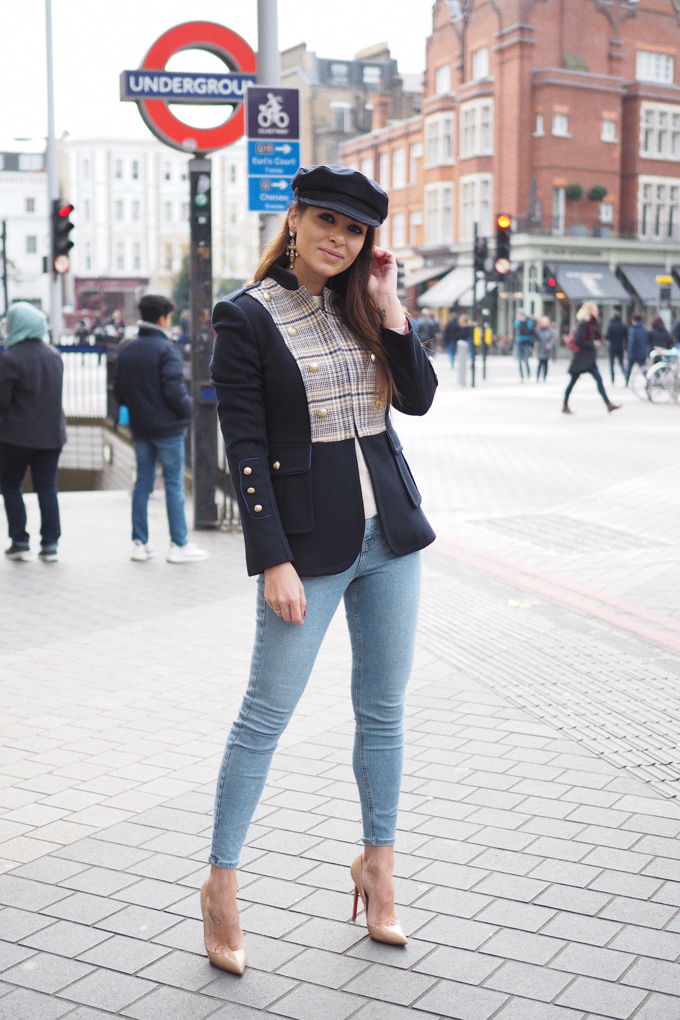 london street style christian louboutin red soles pigalle shoes
