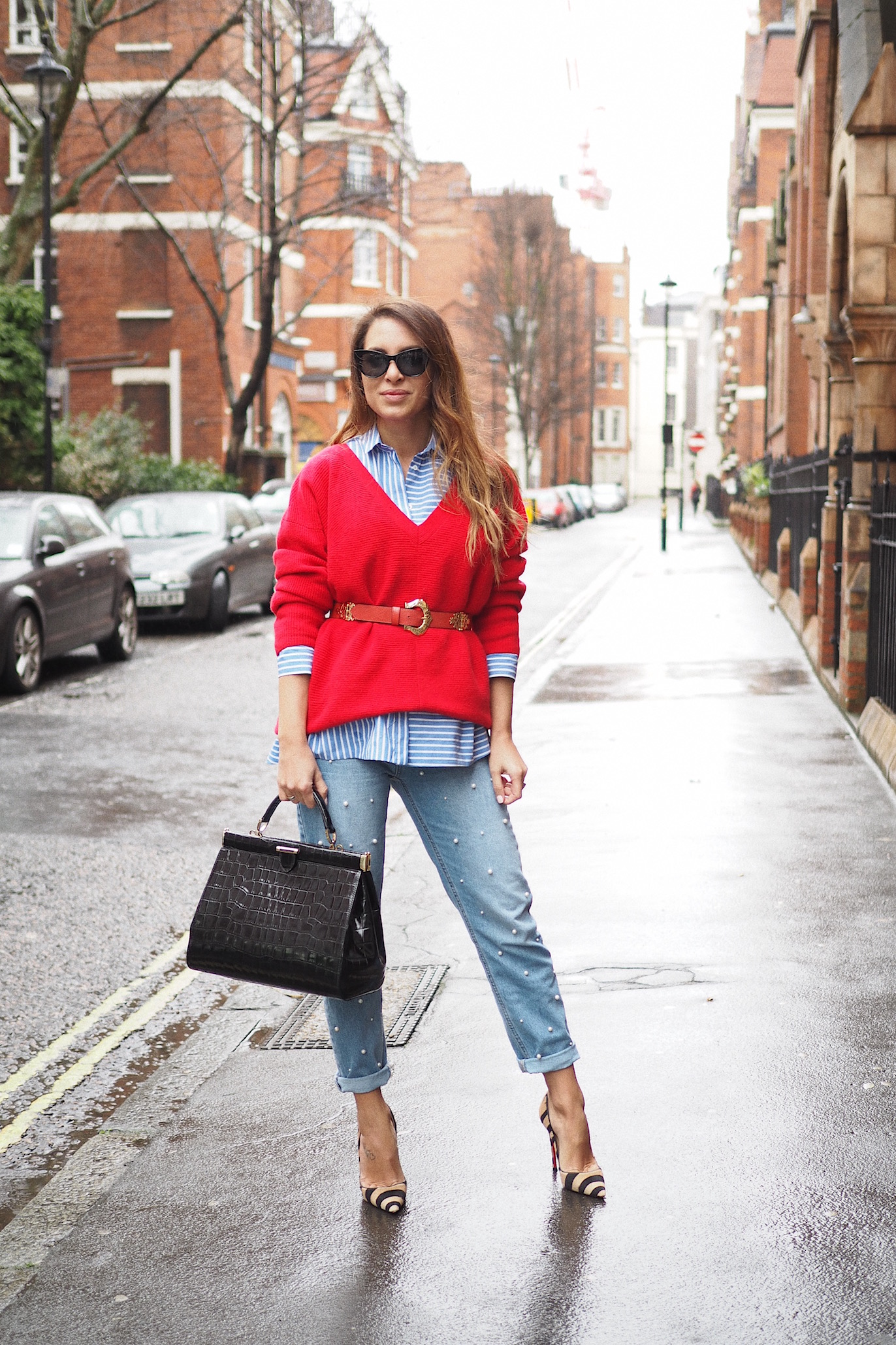 Denim & Pearls london street style aspinal of london
