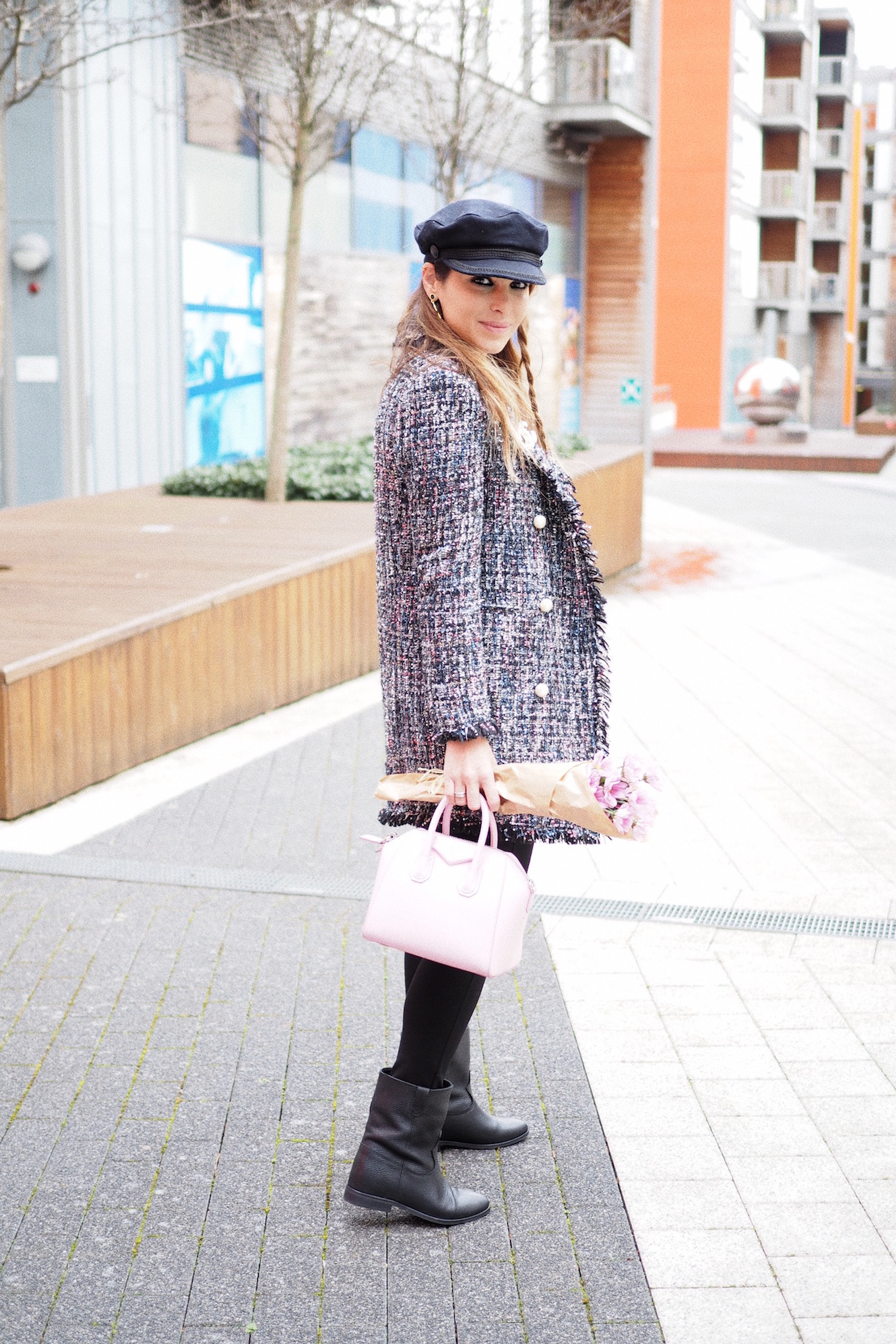 how to wear tweed jacket street style chanel