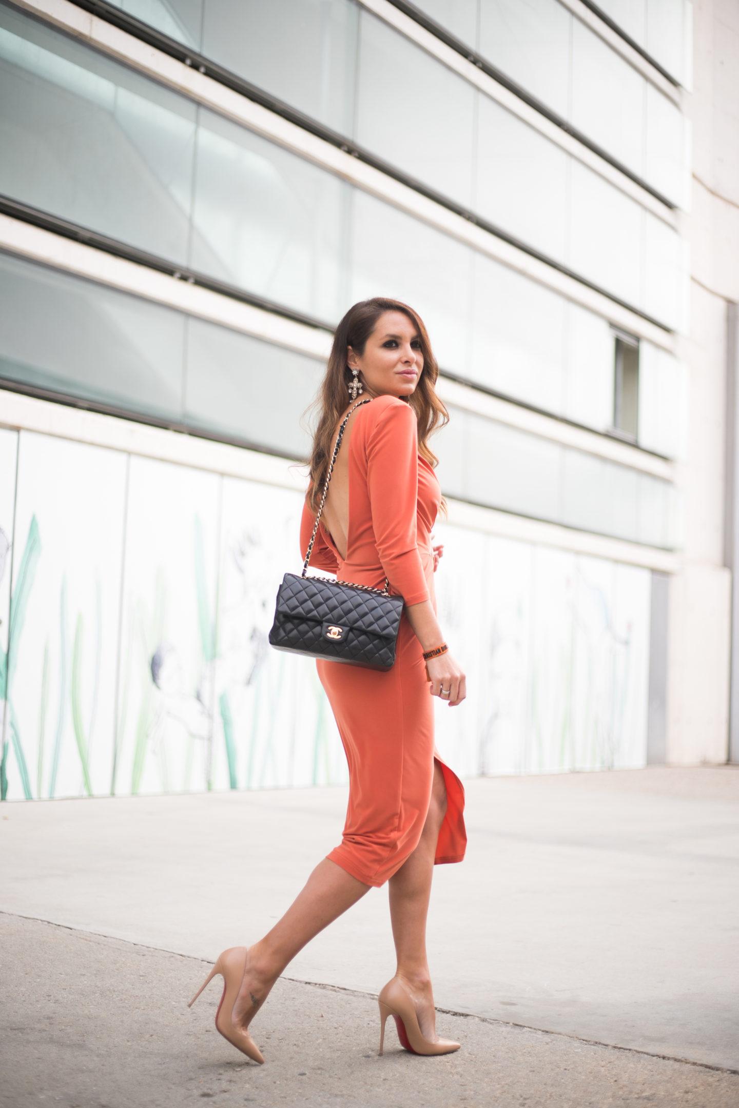 Orange dress at MBFWM // Fashion Week