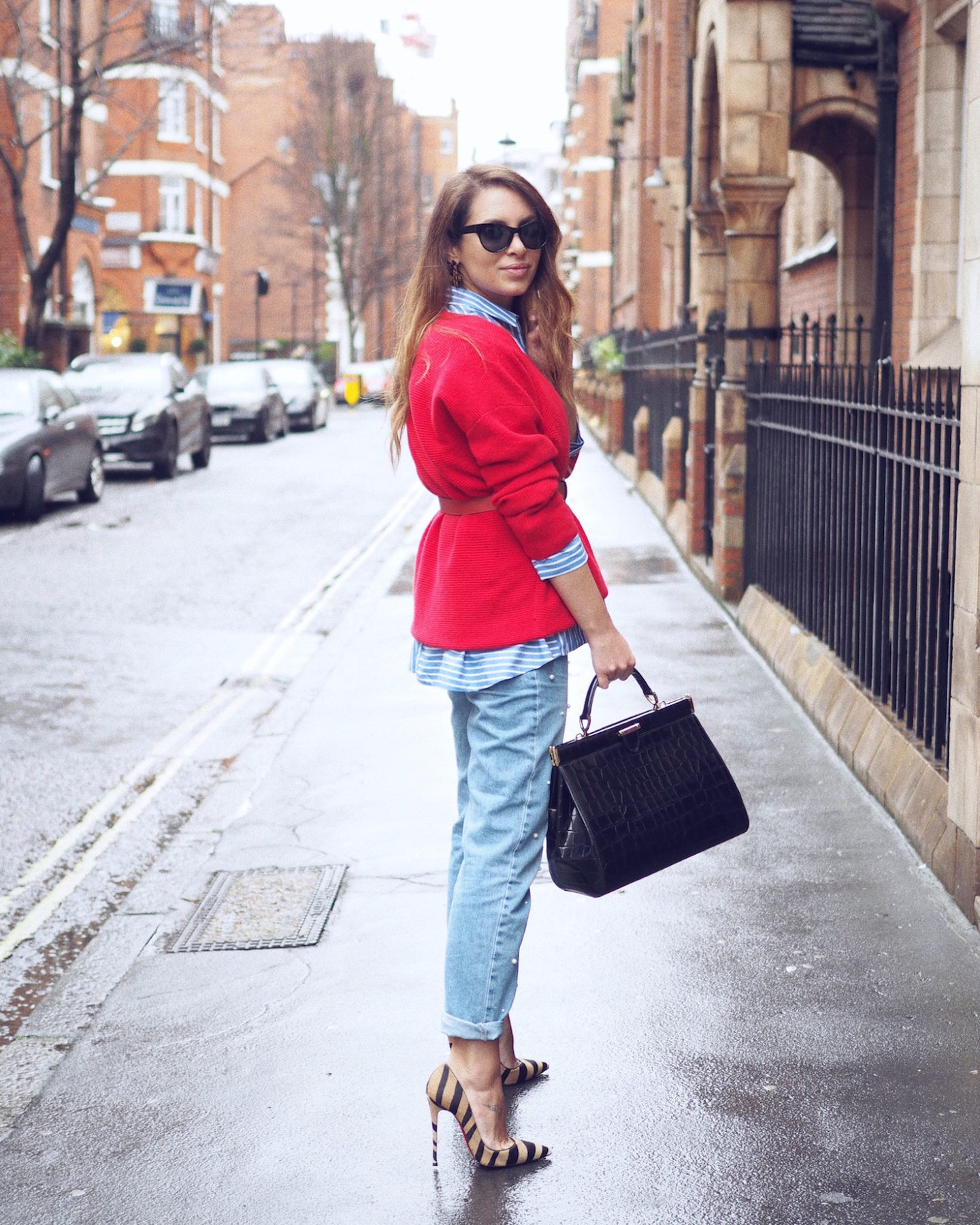 london street style uterque mango christian louboutin aspinal of london