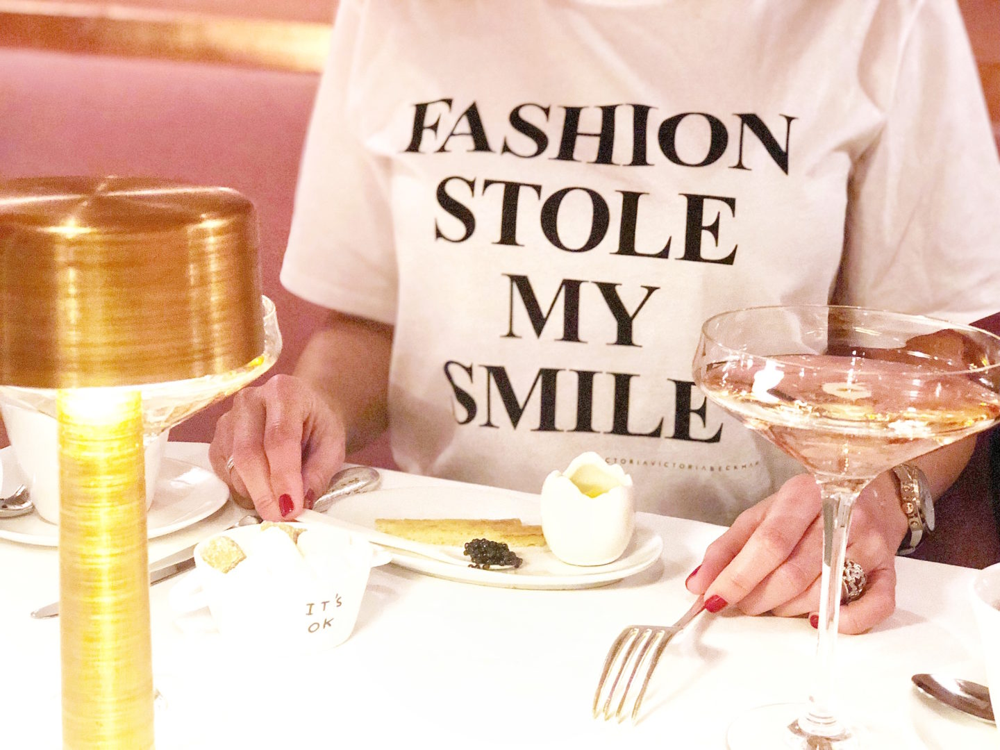 fashion stole my smile victoria beckham london sketch afternoon tea