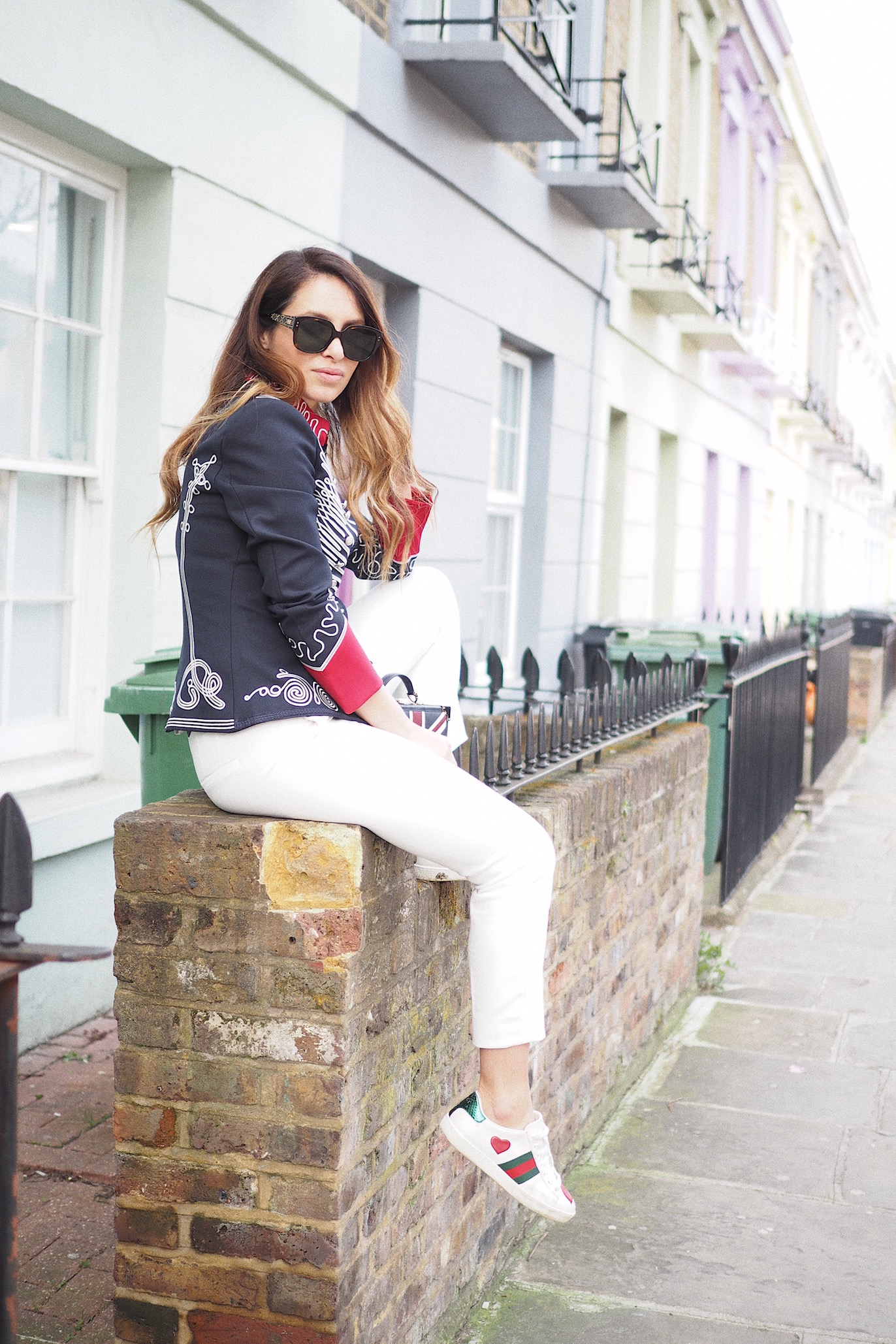 london street style military jacket