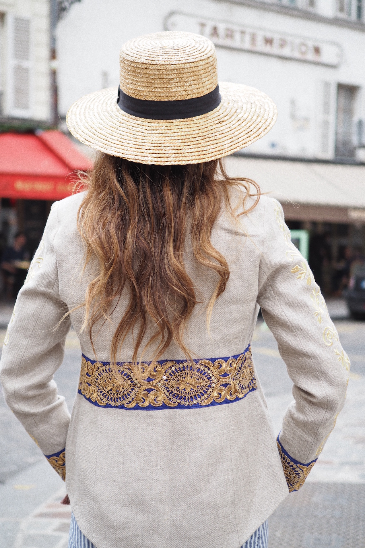 how to wear canotier hats street style paris